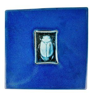 Michael Cohen Tile Blue Hot Plate Whale 5.5 X 5.5